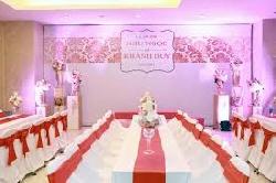 Bàn ghế cưới hỏi màu trắng - hồng