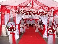 Cho thuê nhà bạt cưới hỏi tông màu đỏ cao cấp