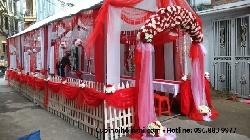 Cho thuê và trang trí nhà bạt đám cưới sang trọng