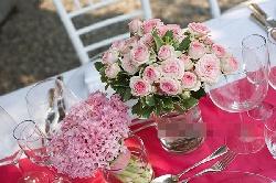 Hoa để bàn cưới đẹp Mẫu 01