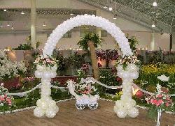 Những mẫu cổng cưới bóng bay đẹp sang trọng lãng mạn