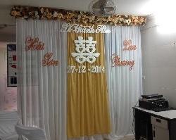 Phông cưới màu đồng sang trọng