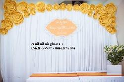 Phông lụa hoa giấy