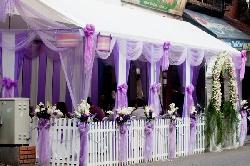 Rạp cưới màu tím đẹp