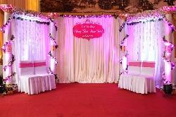 Trang trí phông cưới lụa Handmade