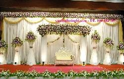 Trang trí sân khấu tiệc cưới VIP SK03