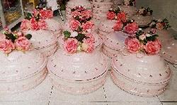 Trọn bộ mâm quả cưới màu hồng